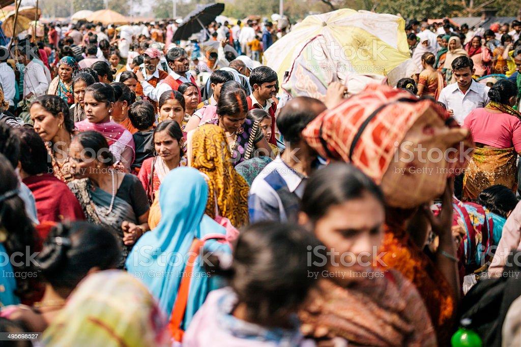 Delhi, street scene stock photo