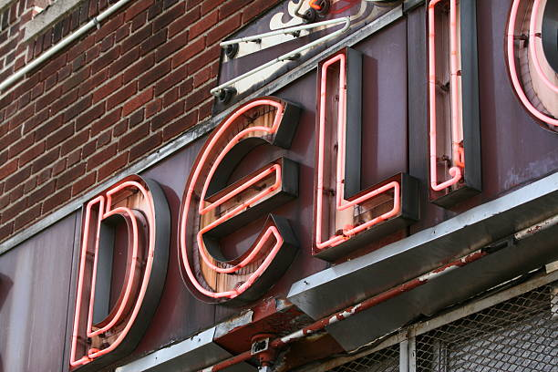 deli beacon - lower east side manhattan stock pictures, royalty-free photos & images