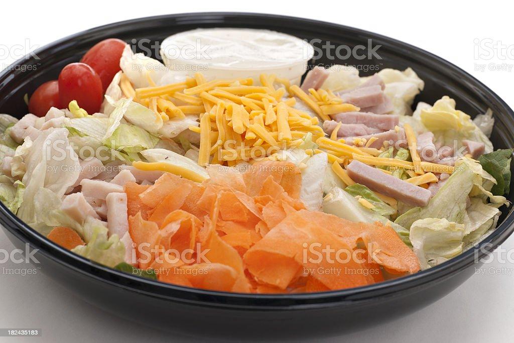 deli chef's salad stock photo