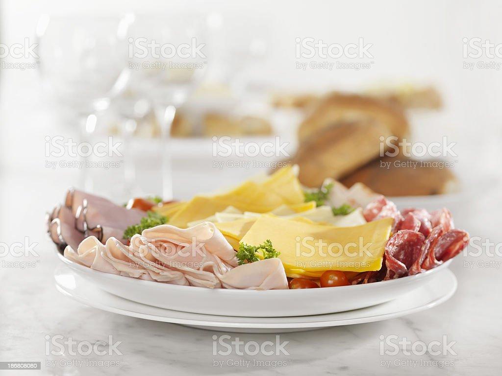 Deli Fleisch und Käse-Party-Platte – Foto