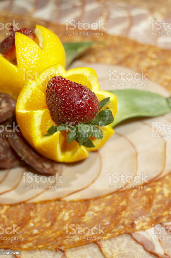 Deli meat platter royalty-free stock photo
