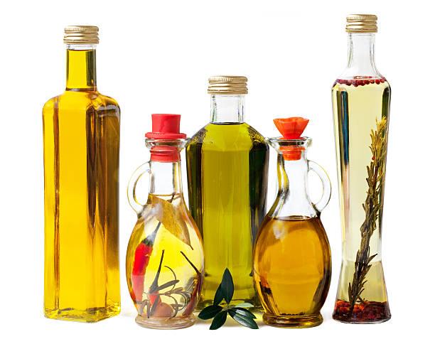 Deli Olive Oel in Bottles stock photo