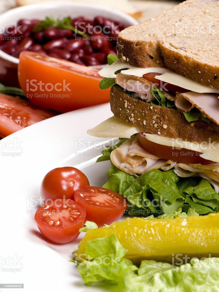 Deli Sandwich 007 royalty-free stock photo