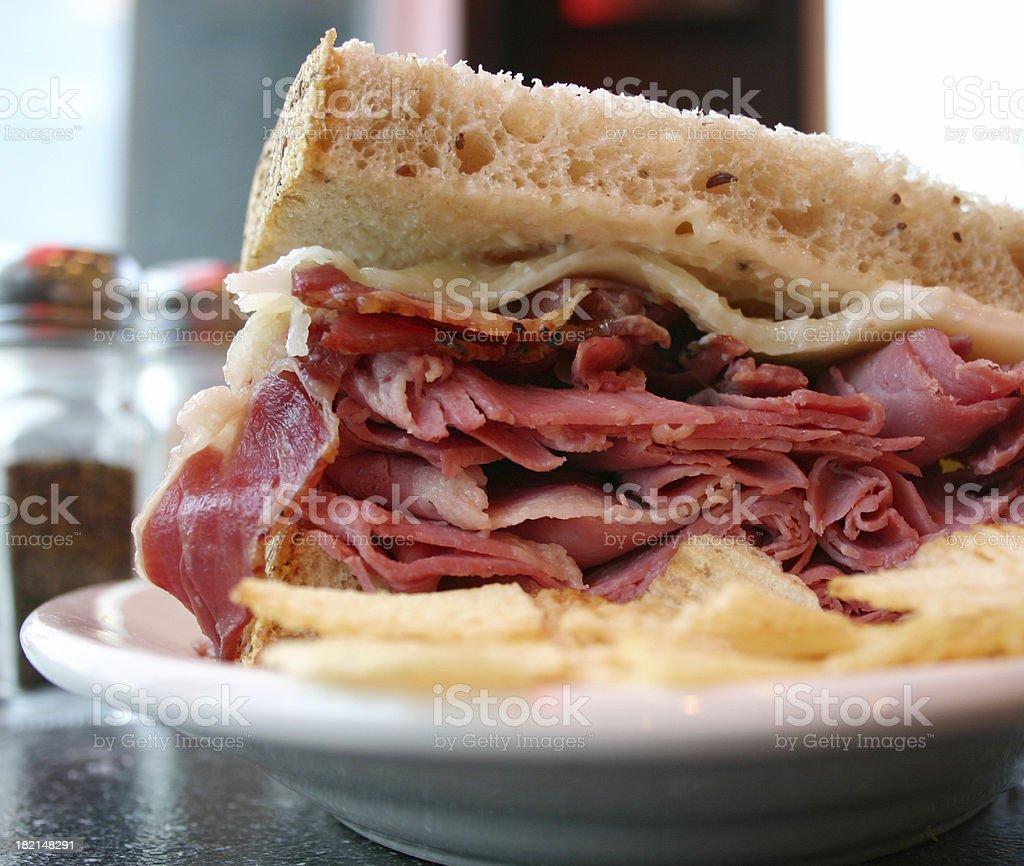 Deli Sandwich 2 royalty-free stock photo