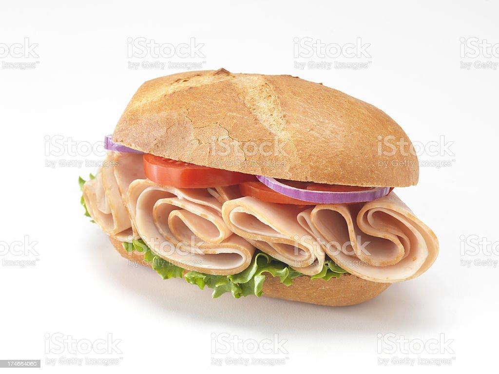 Deli Turkey Sandwich royalty-free stock photo