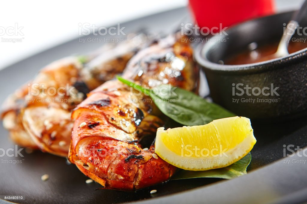 Delicacy dishes of chic restaurant stock photo
