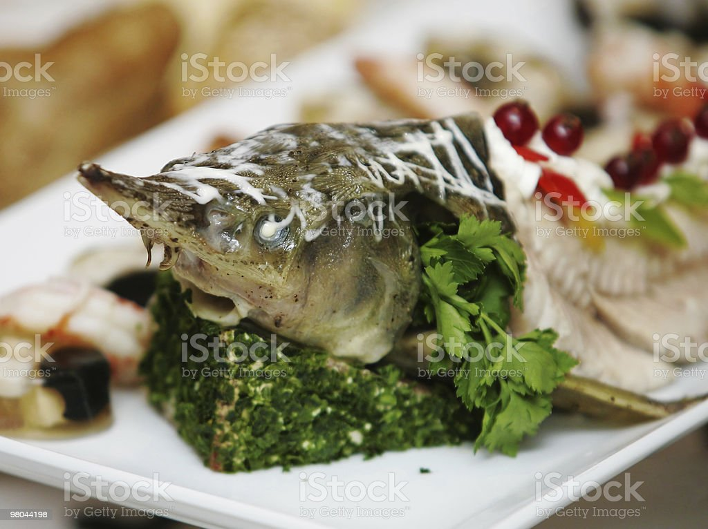 delicacy from fish royalty-free stock photo