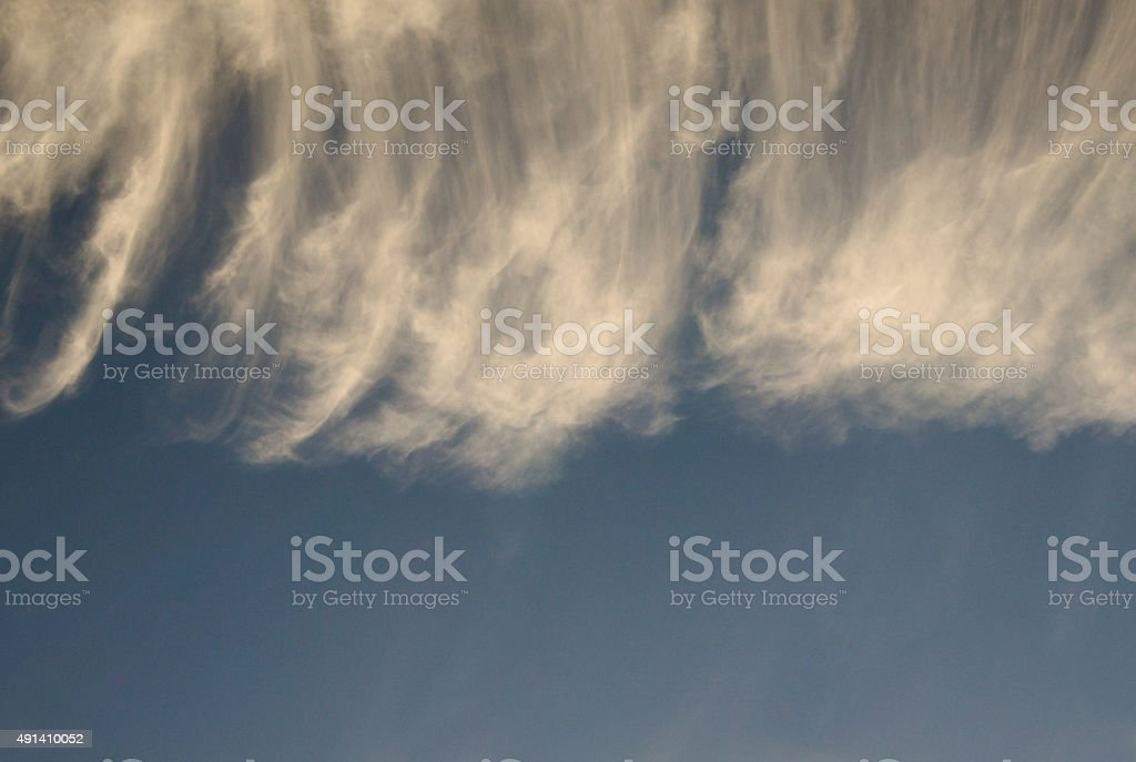 Delicacy in sky with cirrus stock photo