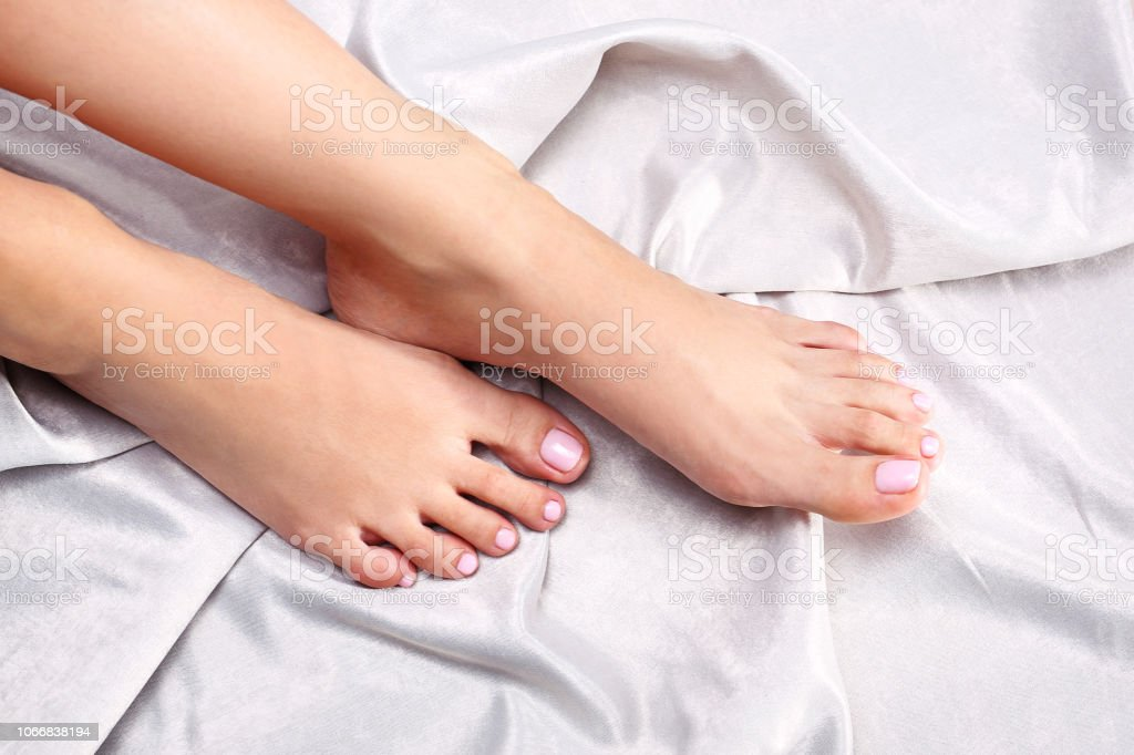 Delicate and sensual female feet.