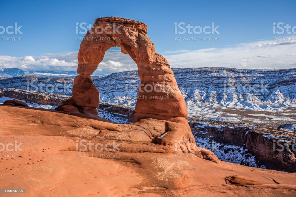 Delicate Arch, Arches National Park Utah Delicate Arch Afternoon, Arches National Park Utah Arch - Architectural Feature Stock Photo