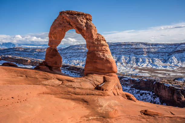 Delicate Arch, Arches National Park Utah Delicate Arch Afternoon, Arches National Park Utah delicate arch stock pictures, royalty-free photos & images