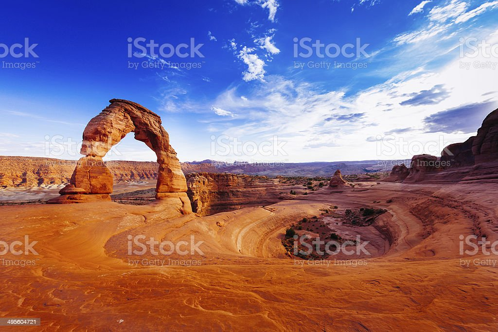 Delicate Arch, Arches National Park, Utah, USA Delicate Arch, USA Adventure Stock Photo