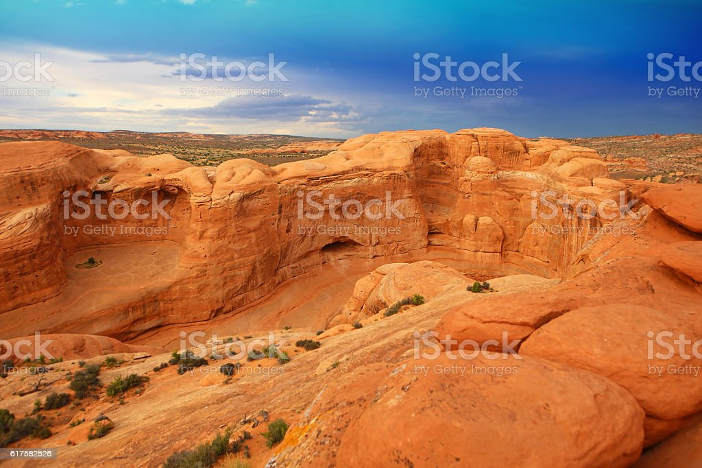 Delicate Arch Hiking Trail In Arches National Park Utah Usa