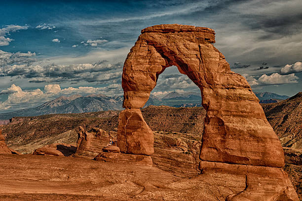 Delicate Arch in Arches National park stock photo