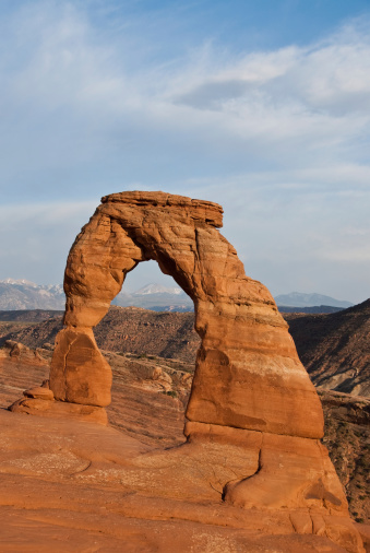 Delicate Arch At Sunset Stock Photo - Download Image Now