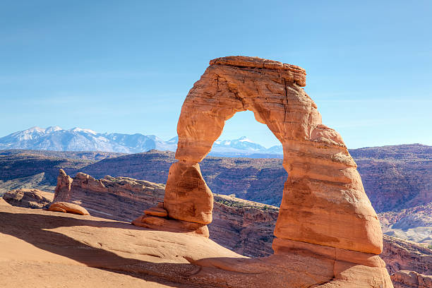 Delicate Arch Utah USA Delicate Arch Utah USA navajo sandstone formations stock pictures, royalty-free photos & images