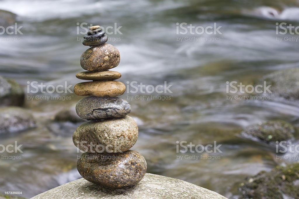 Delicate balance of nature stock photo