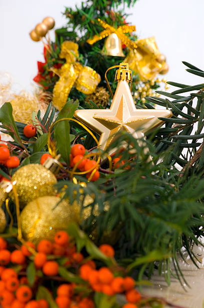 Delicate Christmass Decoration stock photo