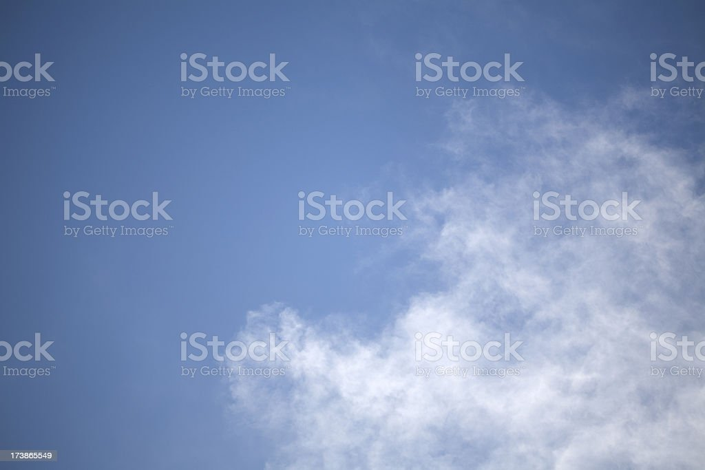 Delicate Clouds and Blue Sky royalty-free stock photo