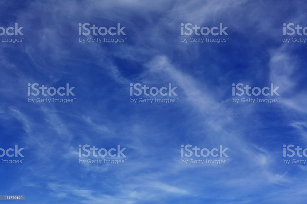 Delicate clouds stock photo