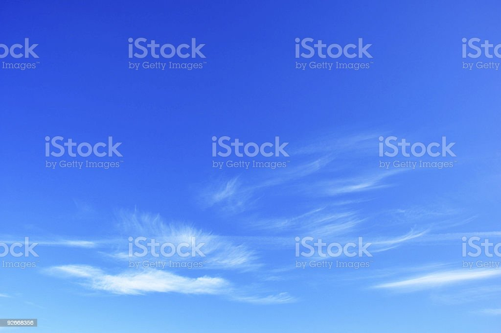 delicate clouds royalty-free stock photo