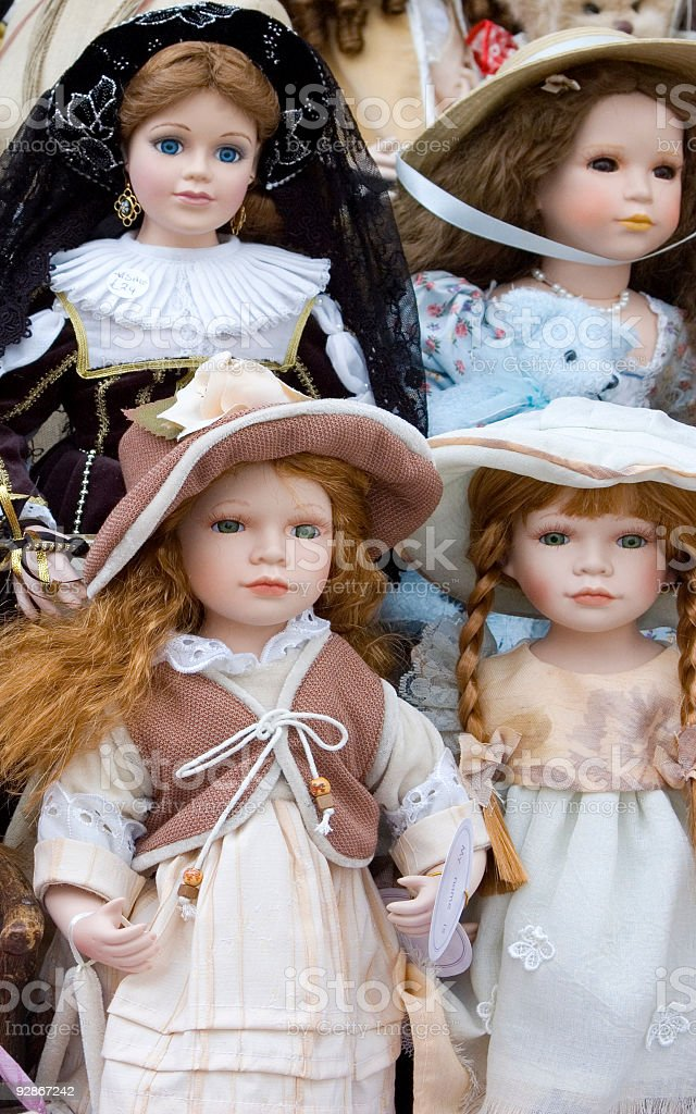 Delicate Dolls stock photo