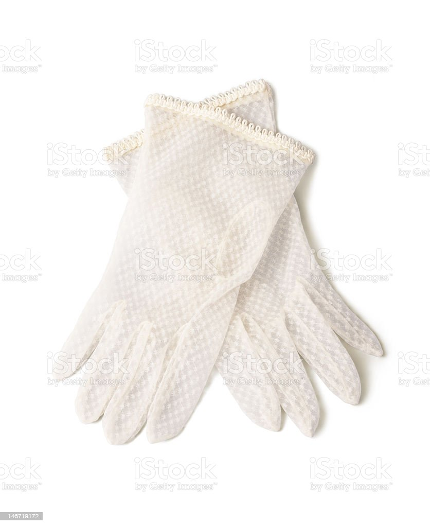 Delicate gloves royalty-free stock photo