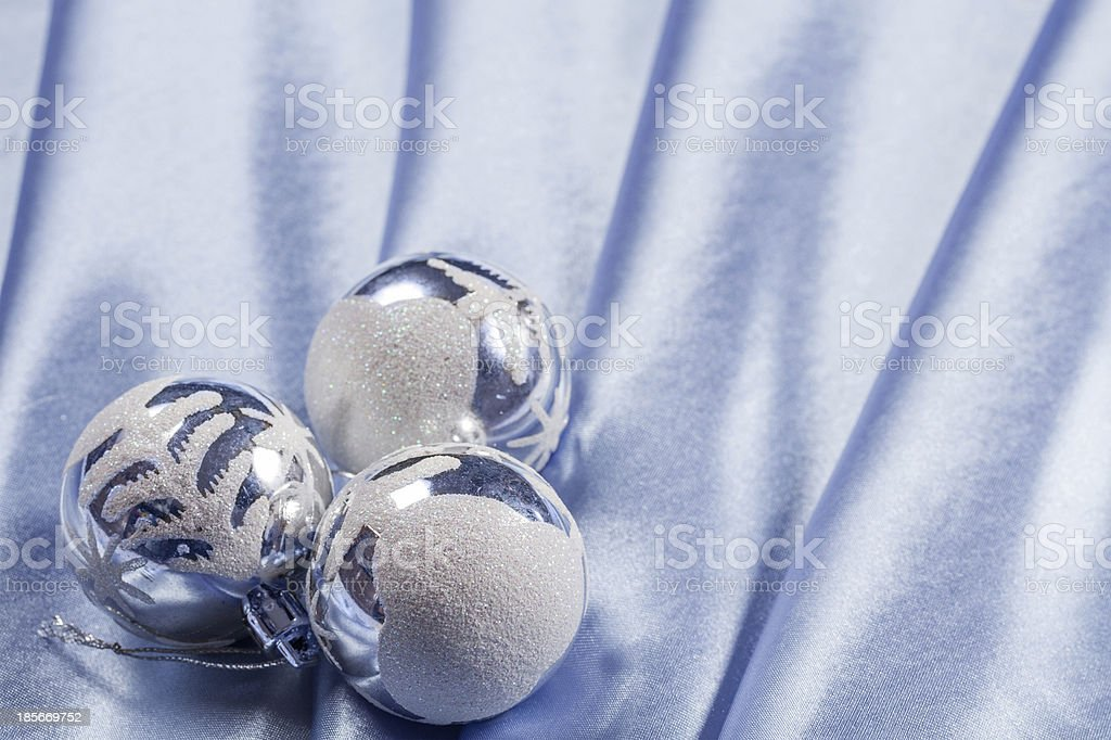 Delicate silk background for Christmas royalty-free stock photo