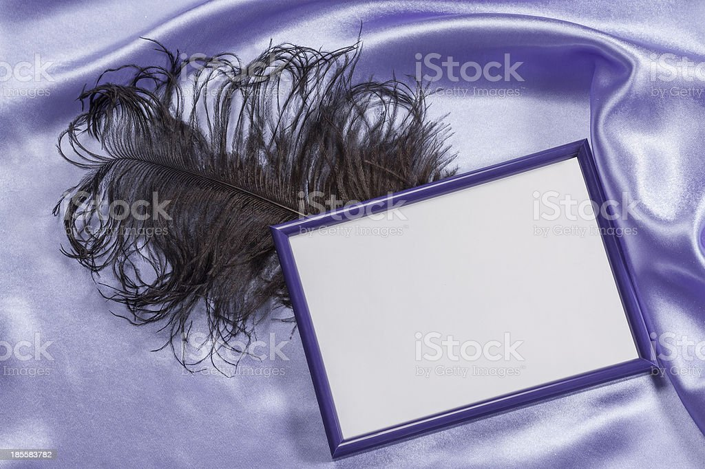 Delicate silk background with frame for photo royalty-free stock photo