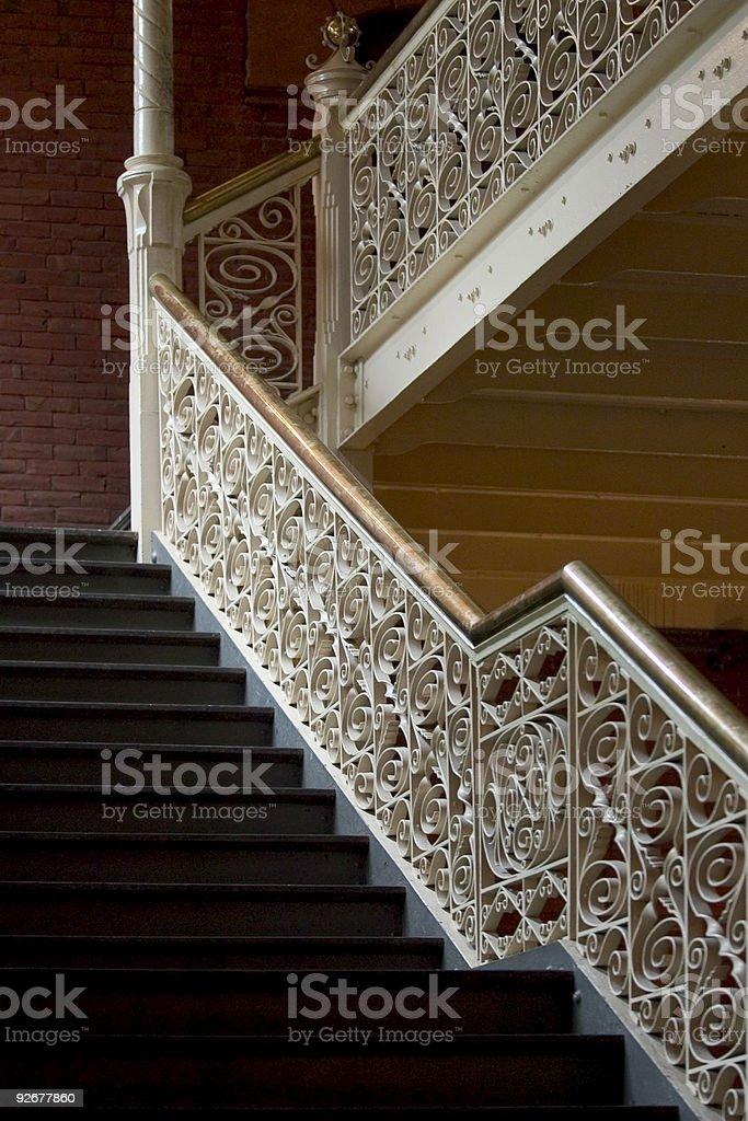 Delicate stairways royalty-free stock photo