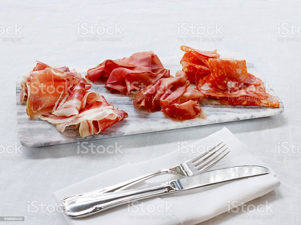 Delicatessen plate stock photo
