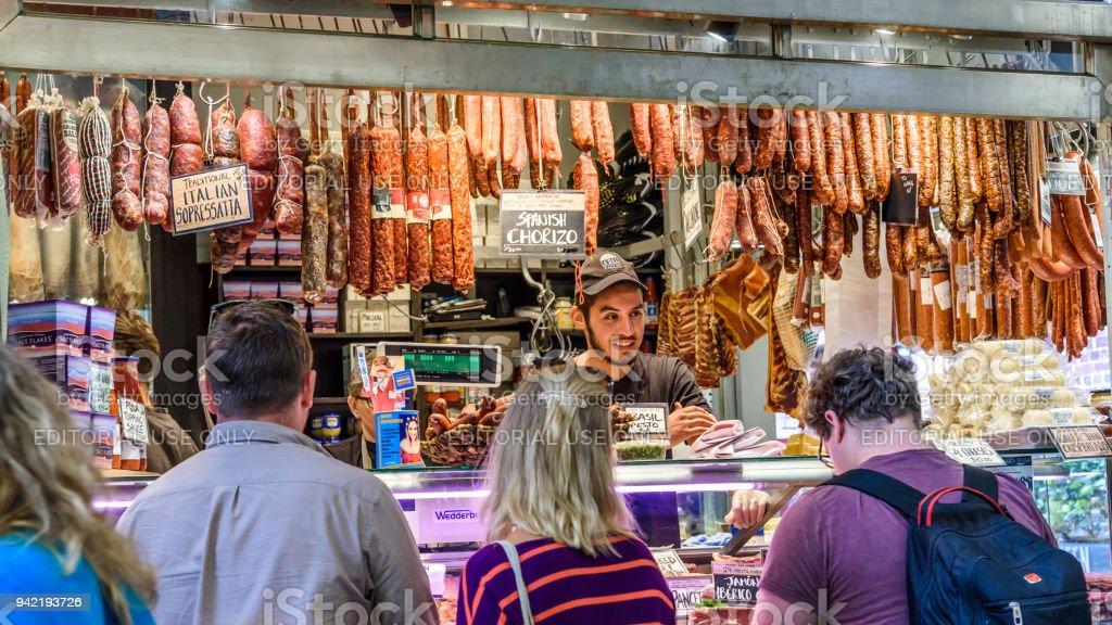 delicatessen stall stock photo