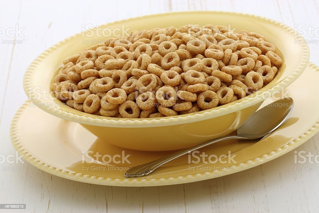 Delicious and healthy honey nuts cereal stock photo