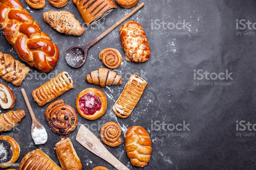 Delicious and sweet seasonal pastry background – Foto