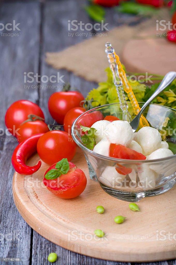 Delicious appetizer  caprese stock photo