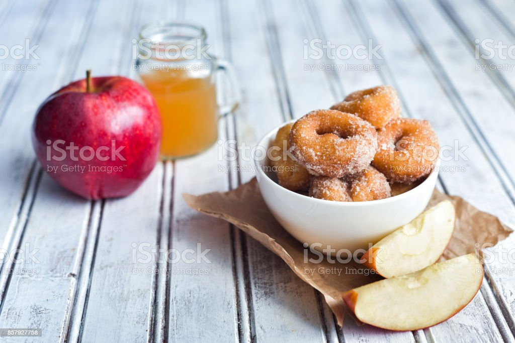 Delicious Apple Cider Donuts stock photo