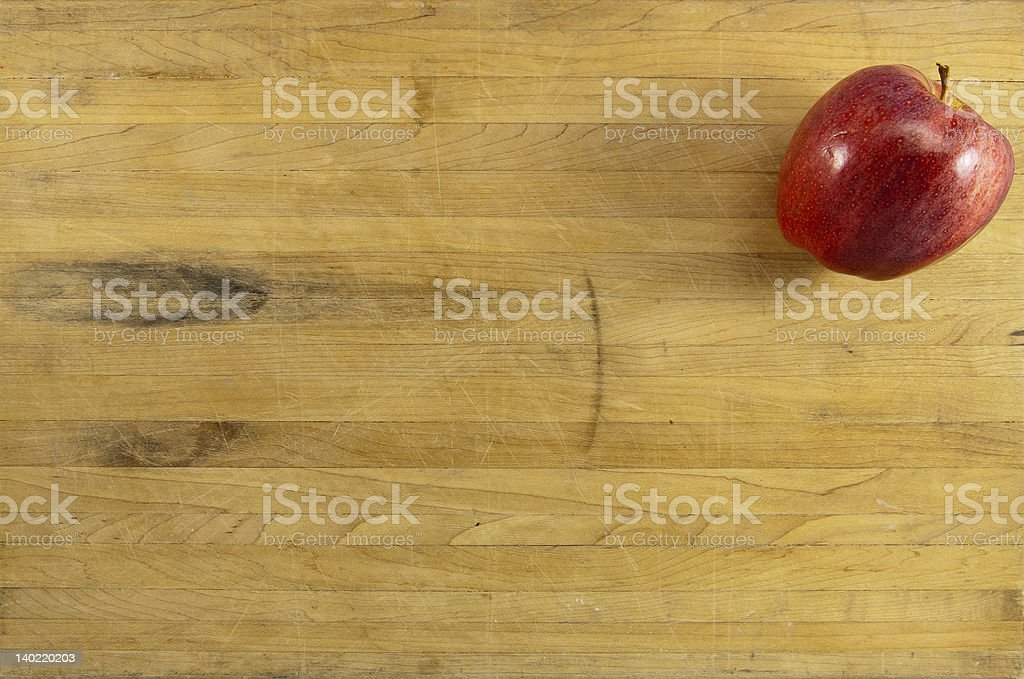 Delicious Apple on Cuttig Board royalty-free stock photo