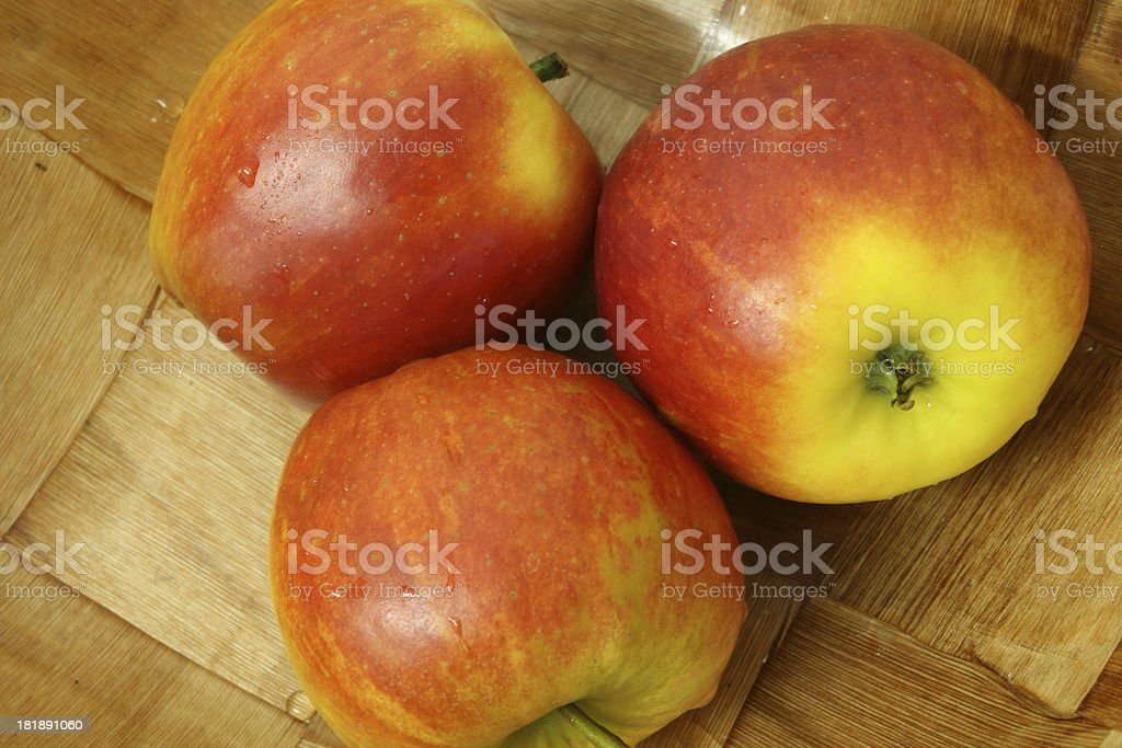Delicious Apples in Basket royalty-free stock photo