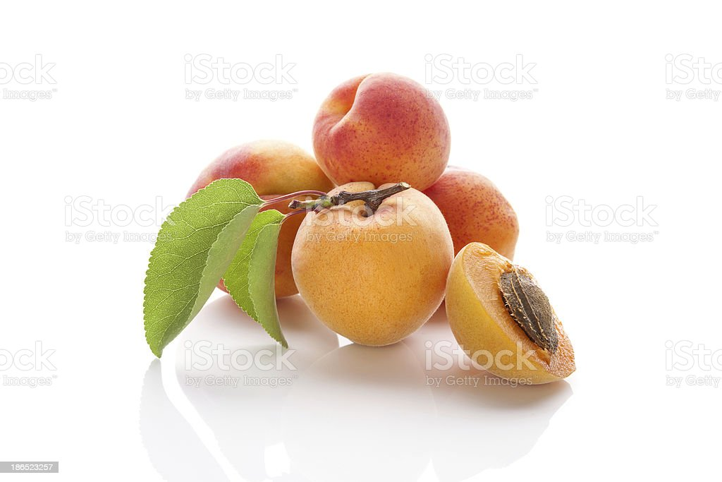 Delicious apricots. royalty-free stock photo