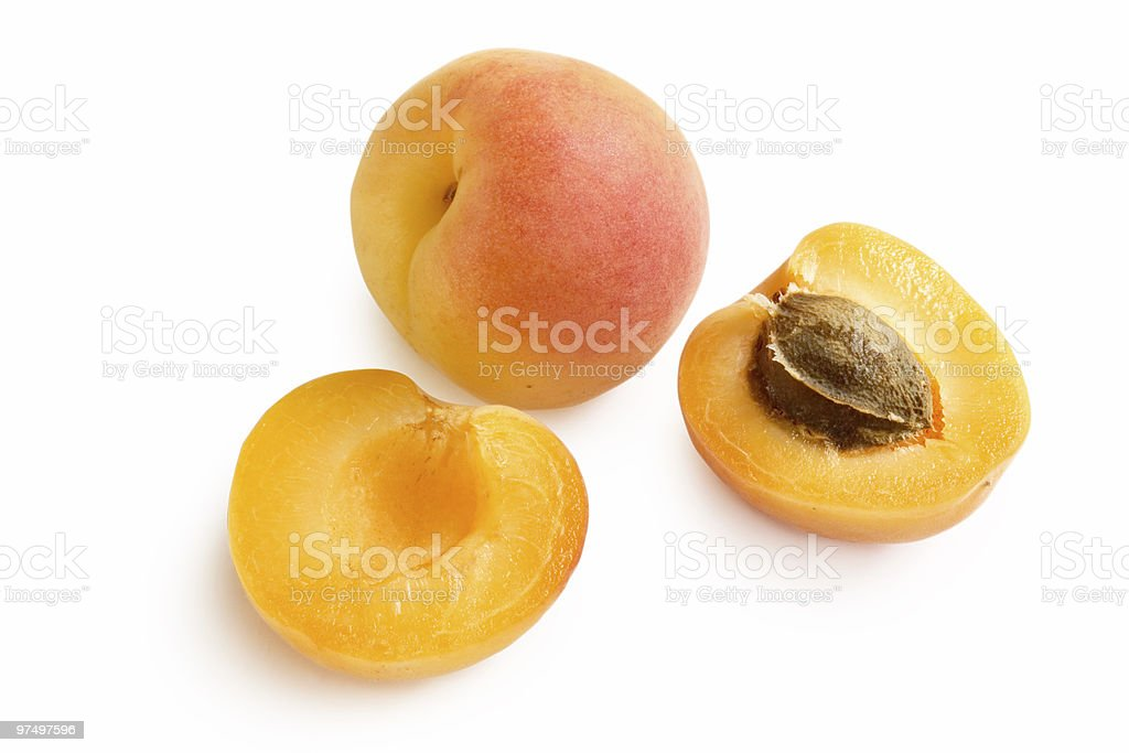 Delicious apricots royalty-free stock photo