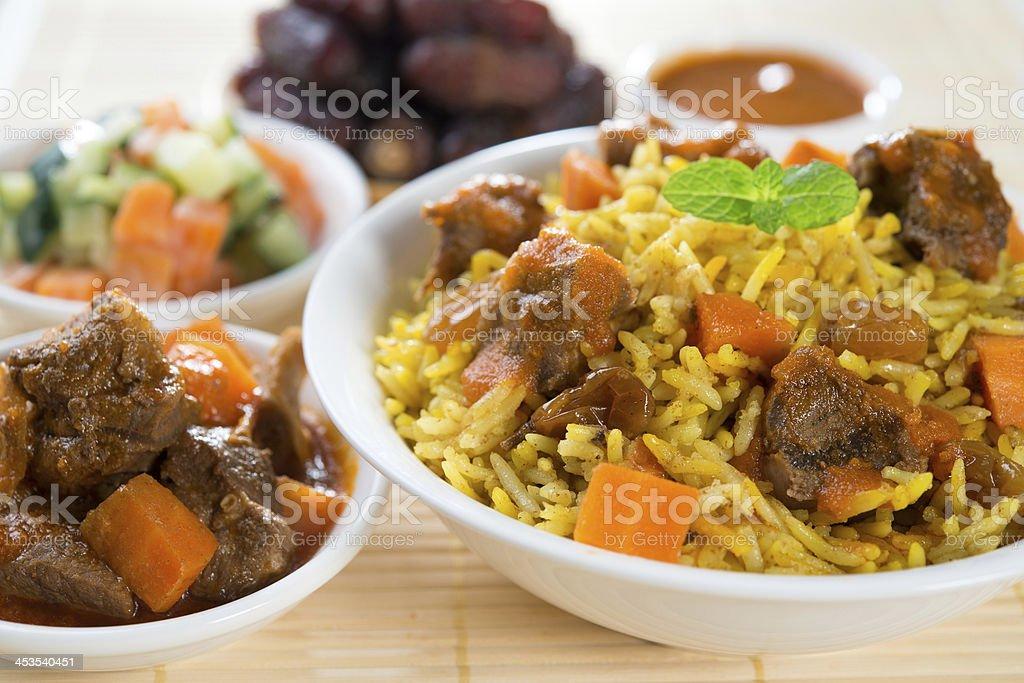 Delicious Arab rice stock photo