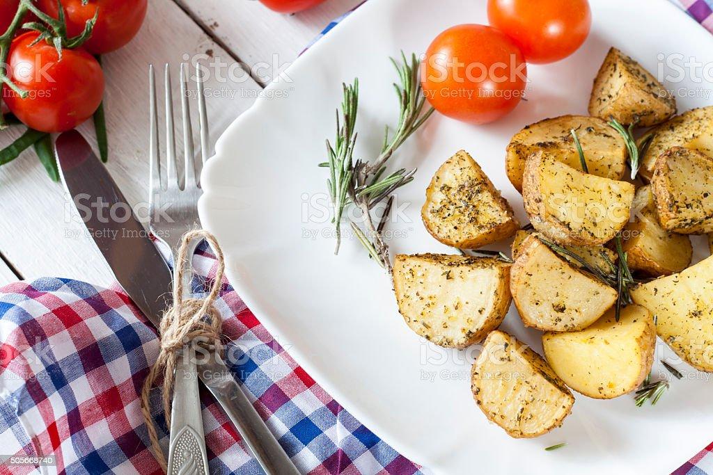 Delicious baked potato with royalty-free stock photo