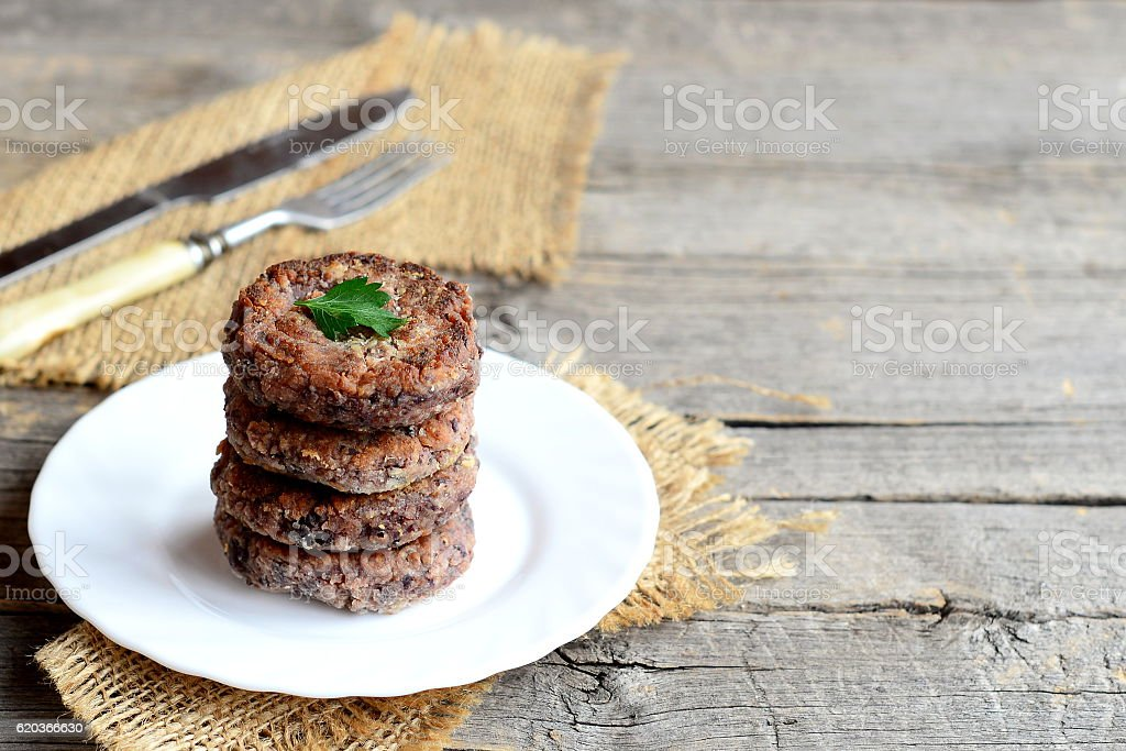 Delicious bean burgers on a plate foto de stock royalty-free