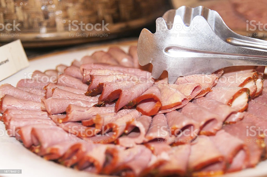 Delicious beef smoked royalty-free stock photo