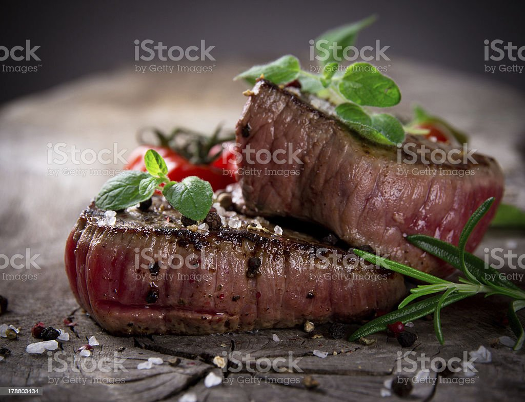 Delicious beef steak stock photo