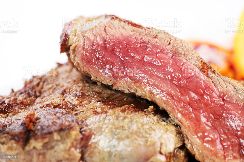 Delicious beefsteak. royalty-free stock photo
