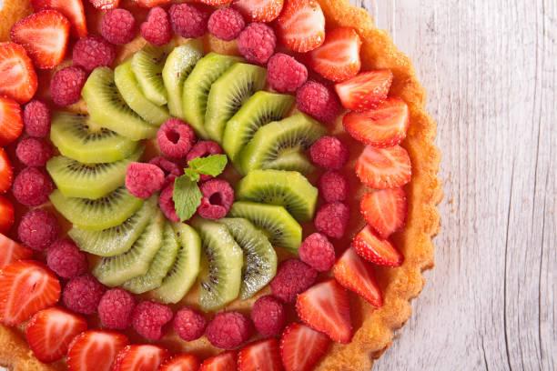 delicious berry fruit pie stock photo