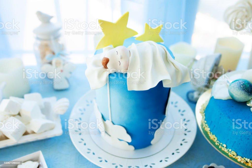 Köstliche Geburtstag Taufe Oder Babyduschekuchen Verziert