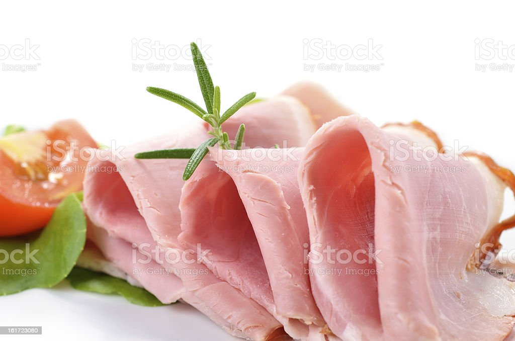 Delicious boiled ham stock photo
