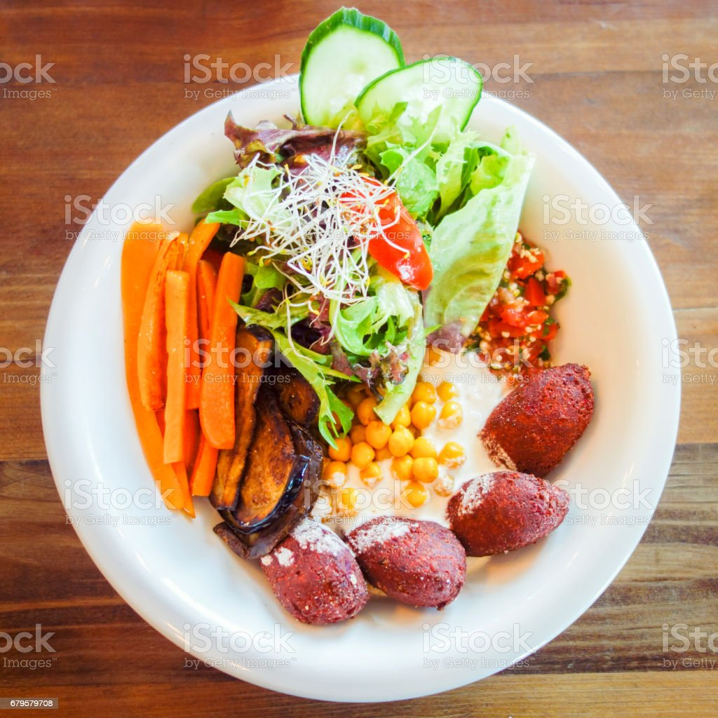 Delicious bowl with organic food stock photo